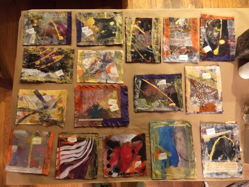 collaged post cards